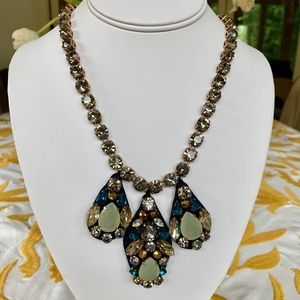 J. Crew Necklace, Crystal on Fabric